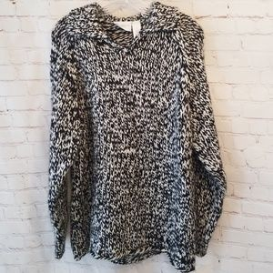 Liz Claiborne Oversized Wool Blend Knit Sweater